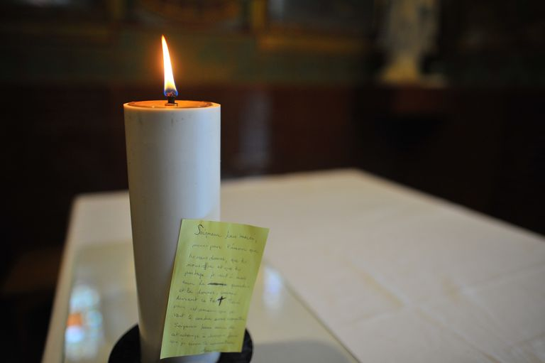 Prayer Candle with Written Note