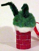 Grinch in Chimney Ornament