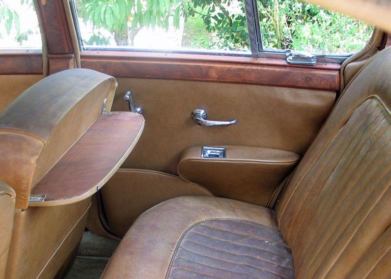 1960 Mark II Jaguar's back door before picture