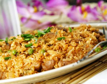Delicious Thai Chicken Fried Rice - everyone's favorite!
