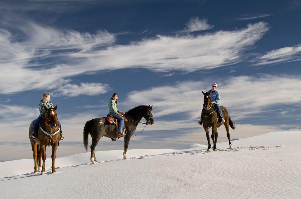 horseback riders in White Sands NM