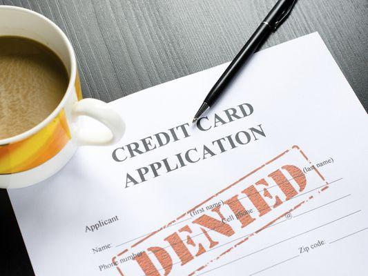 Denied credit card application