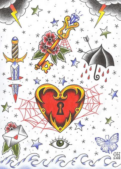Flash diseños tatuajes Old School
