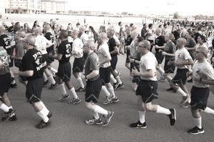 Running in Formation at Air Force BMT Graduation