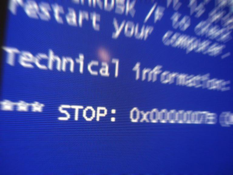 A critical computer error