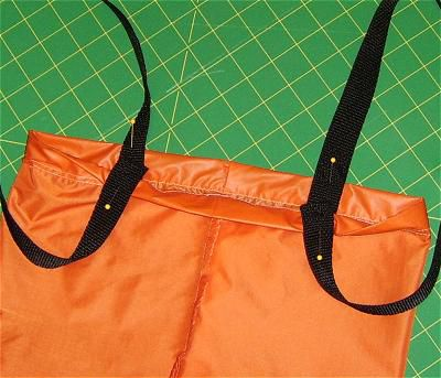 Photo showing strap placement.