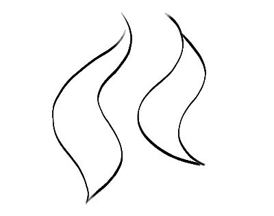 a simple flame using line