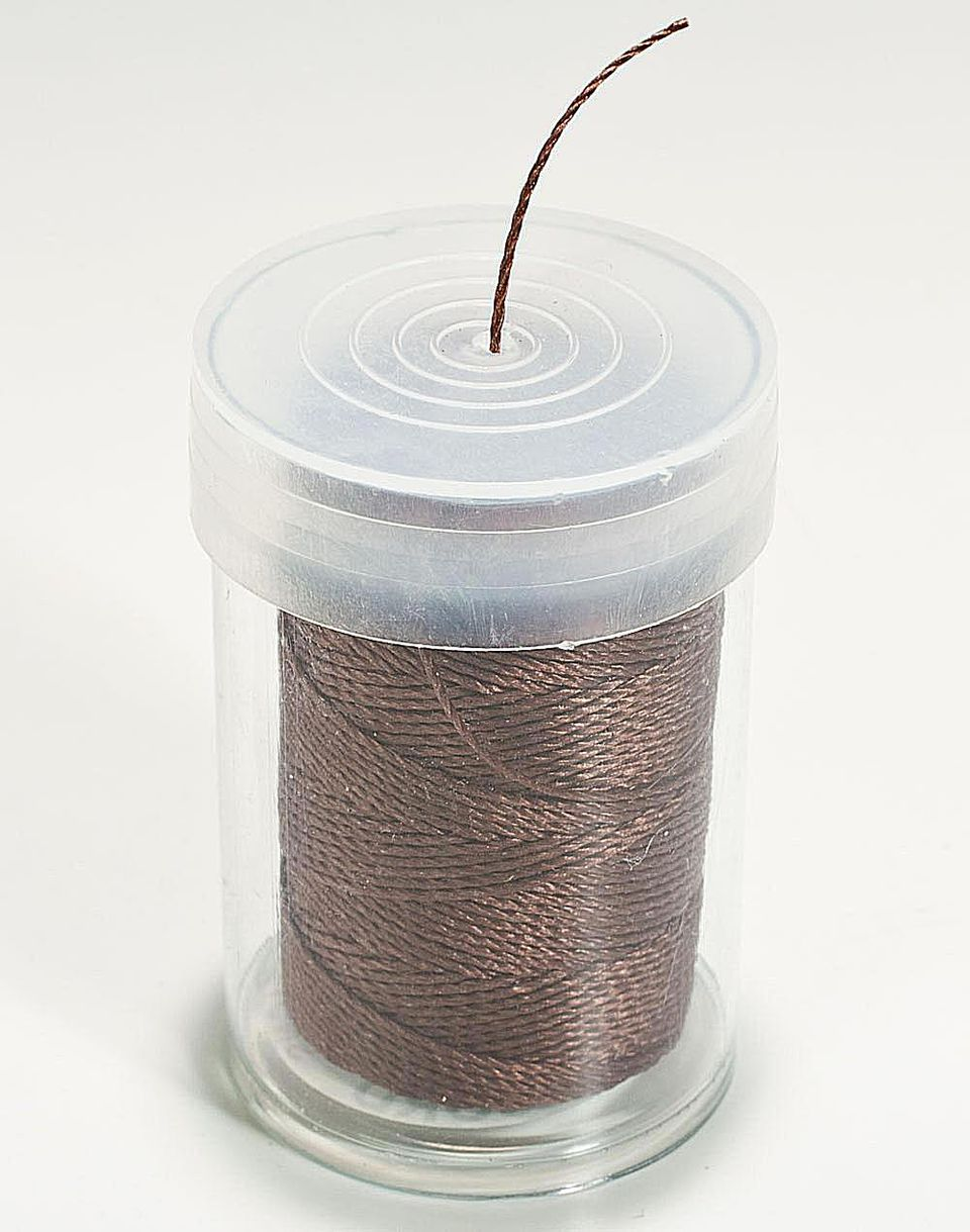Spool of brown C-Lon Bead Cord