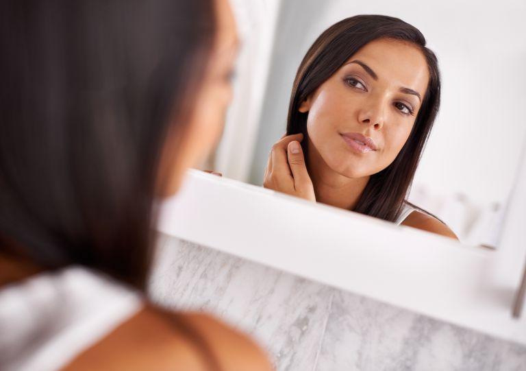 angel of beauty Jophiel woman in mirror