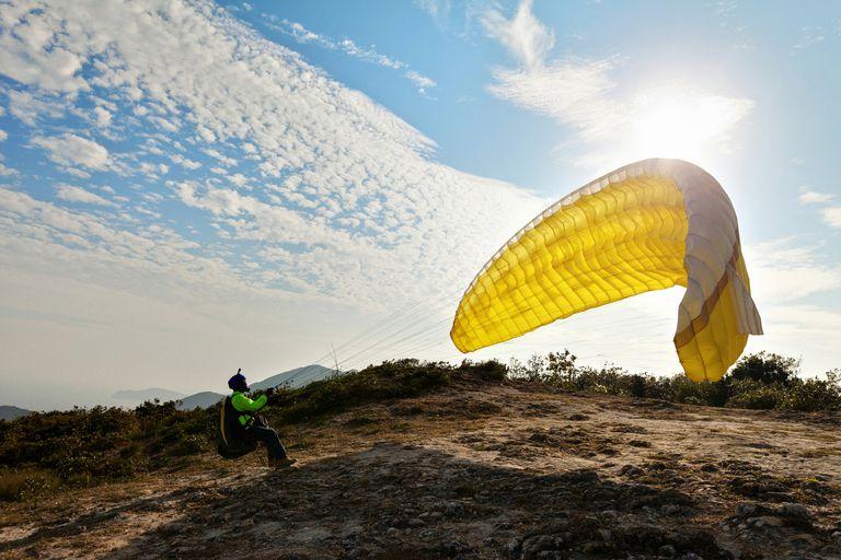 Paragliding in Sai Kung, Hong Kong