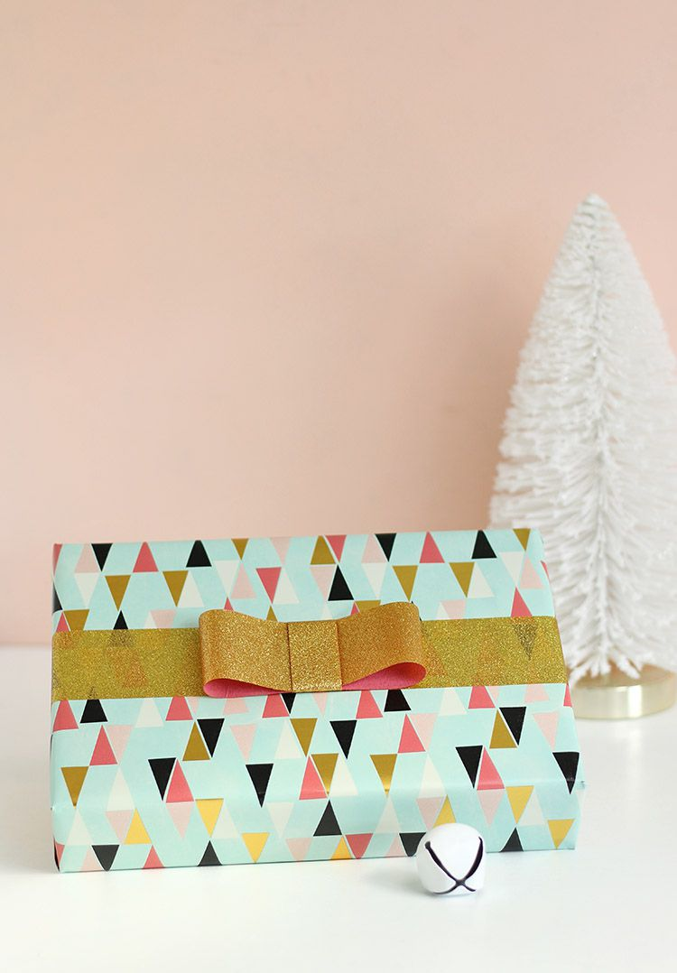 DIY Glitter Duct Tape Gift Bows