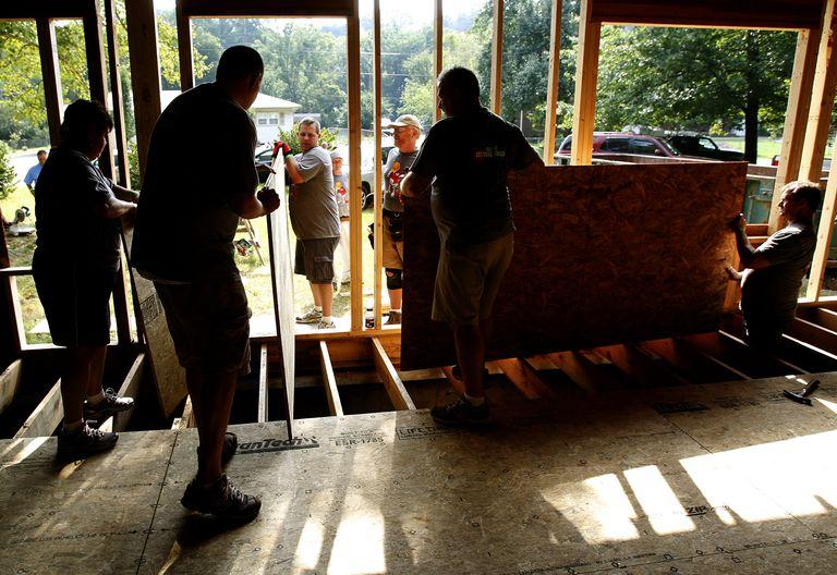 sub-flooring installation