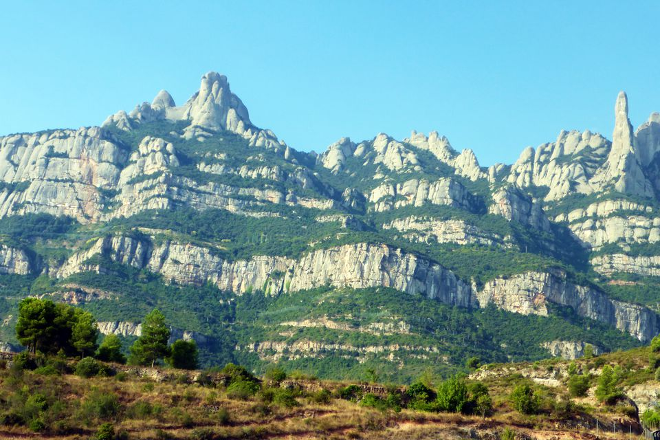The serrated mountain of Montserrat near Barcelona