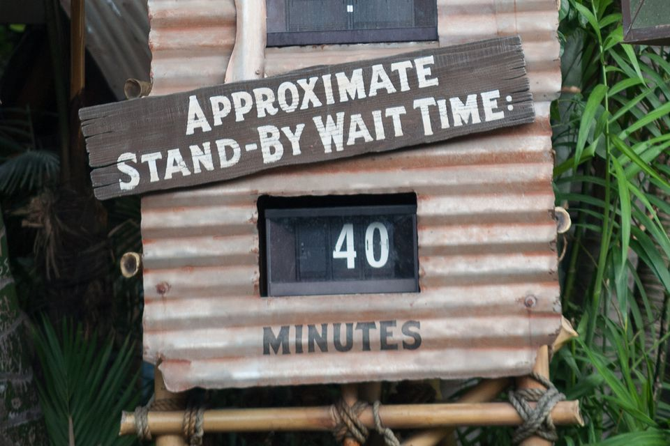 Image result for disneyland california wait time sign