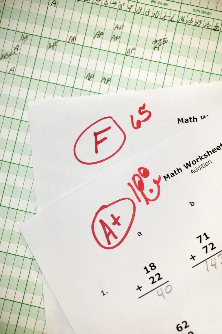 Graded math homework and grade book