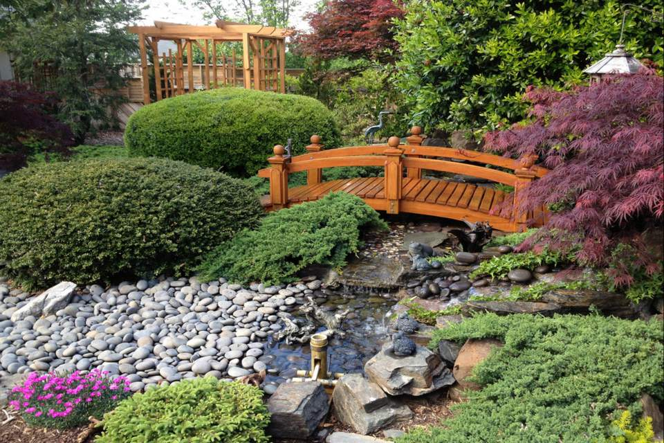 foot garden flat wooden bridges for bridge japanese uk gardens red
