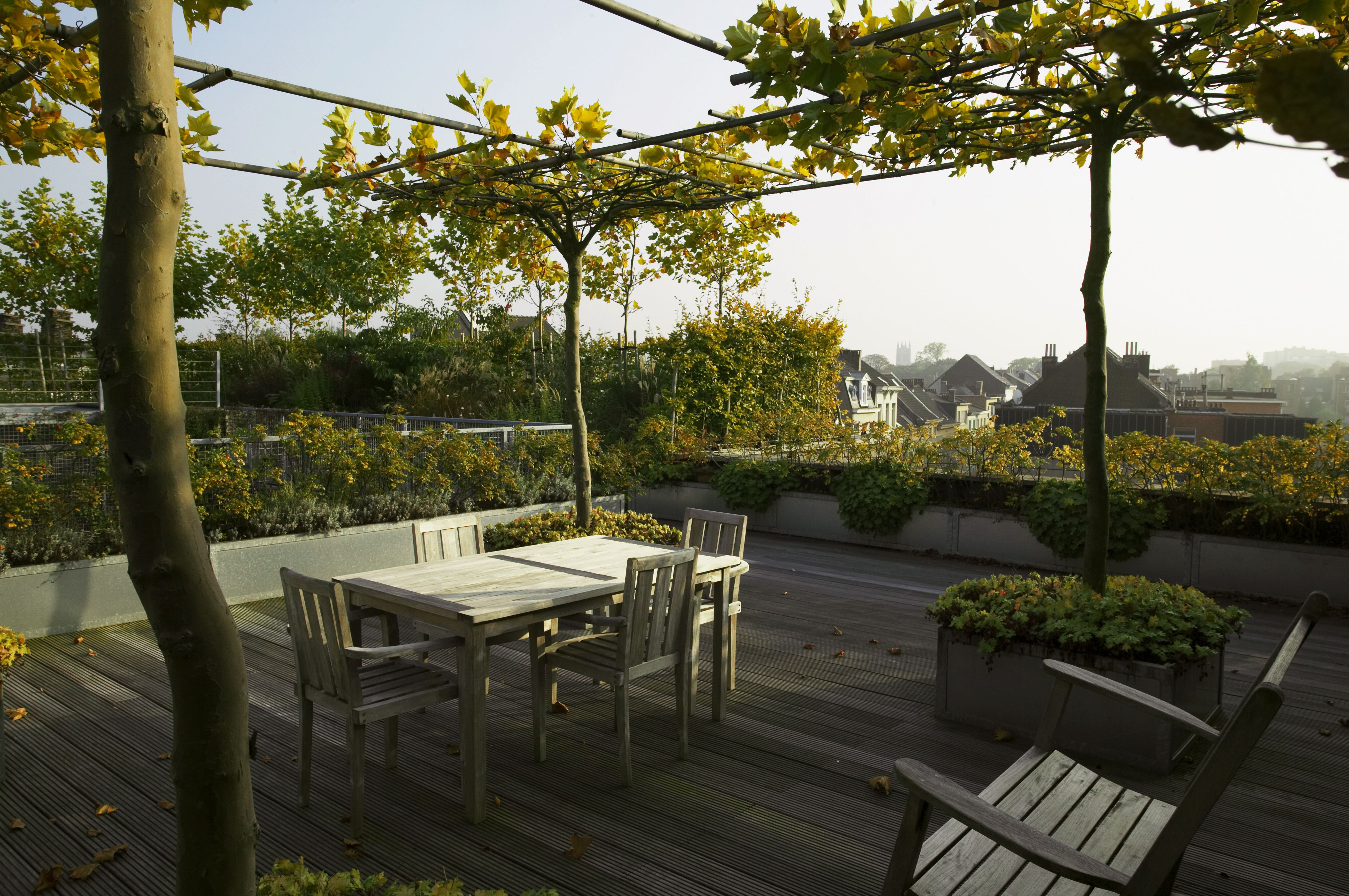 Urban rooftop gardens for Roof garden pictures