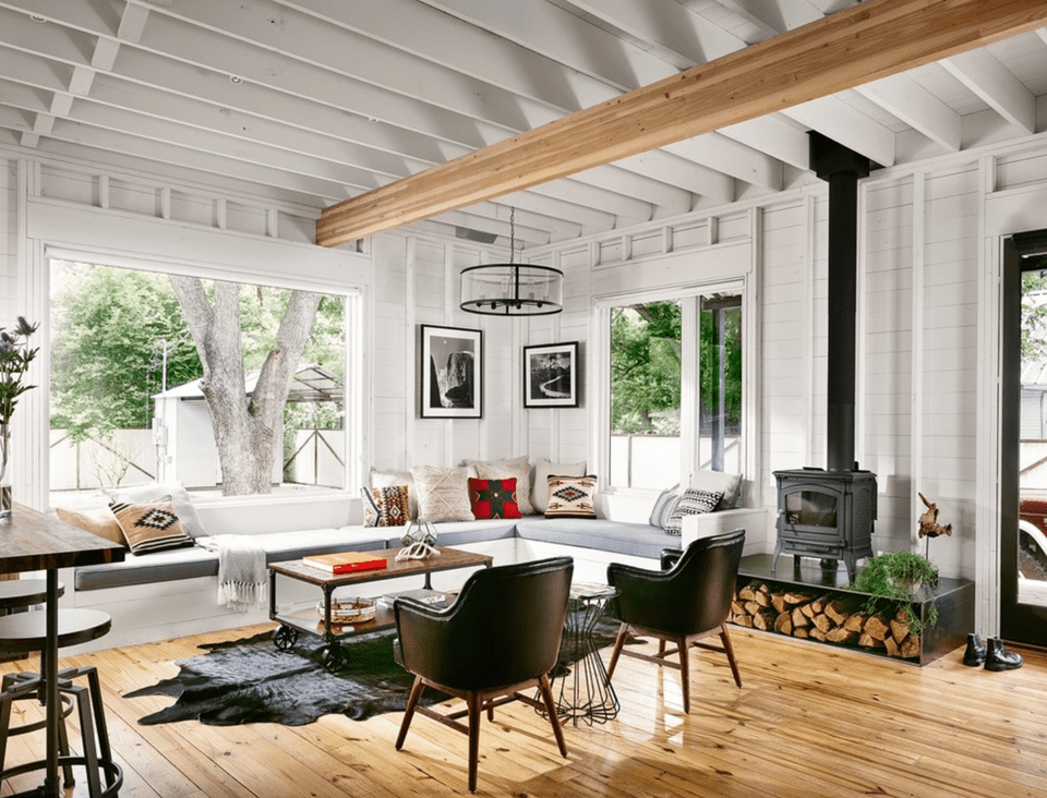 20 farmhouse style living rooms for Industrial chic living room