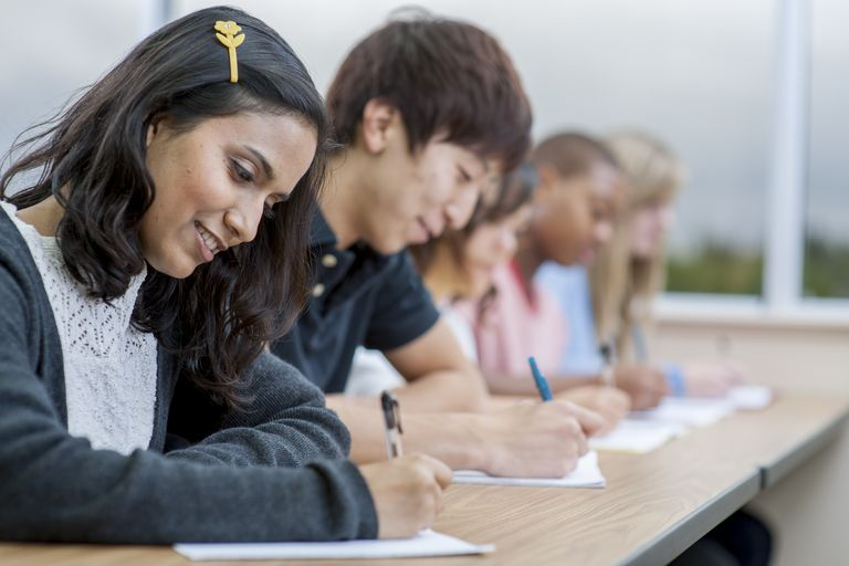 College Students writing an Exam