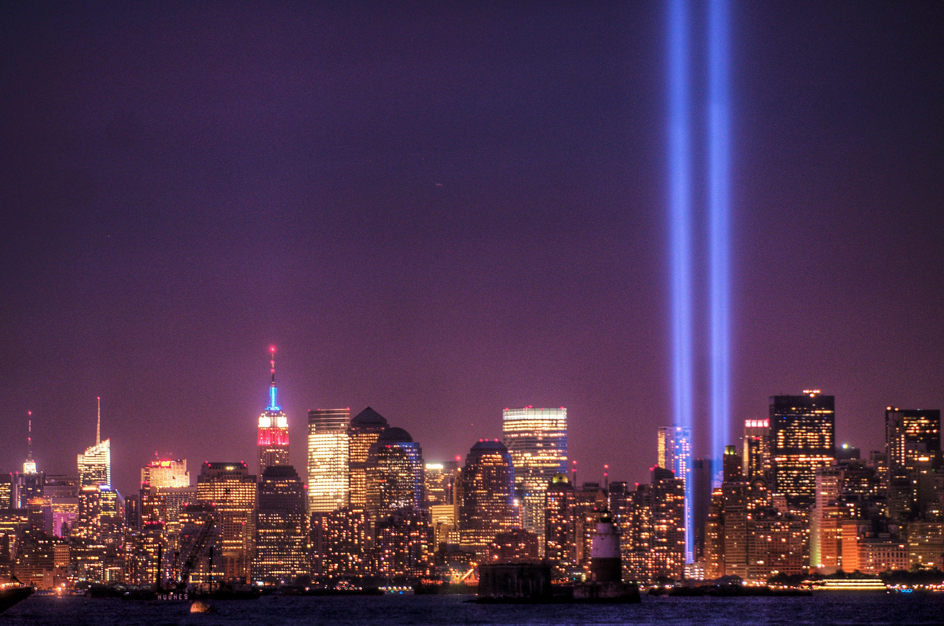 The September Memorials Of Brooklyn New York - Two beams light new yorks skyline beautiful tribute 911