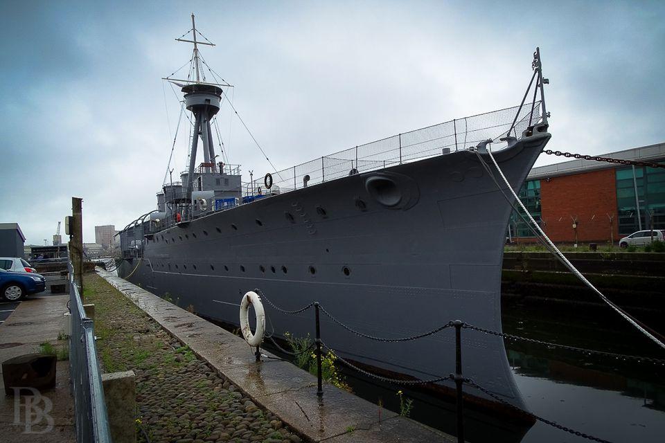 HMS Caroline in Belfast, Jutland survivor, Royal Navy headquarters, training ship, now museum