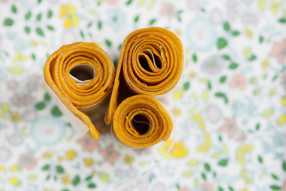 fruit leather rolled up