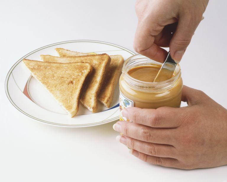 peanut butter and toast are a few foods you can eat after a colectomy