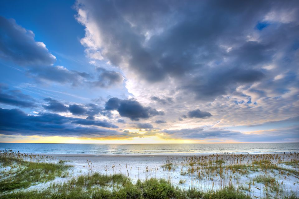 Twilight on the beach at Amelia Island, Florida