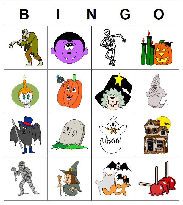 21 Sets of Free, Printable Halloween Bingo Cards