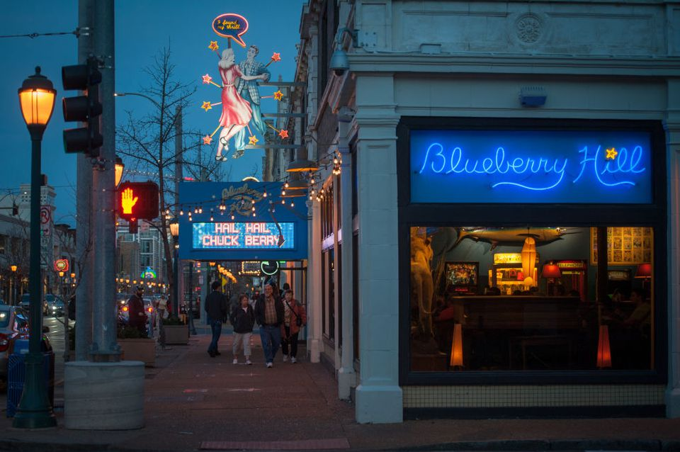 Blueberry Hill in the Delmar Loop
