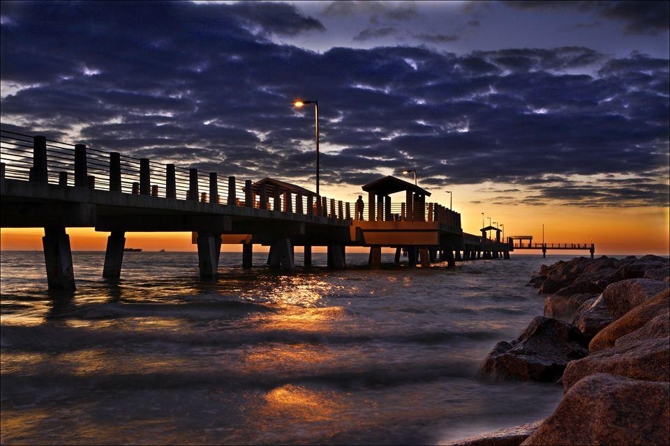 Fort De Soto pier at sunset