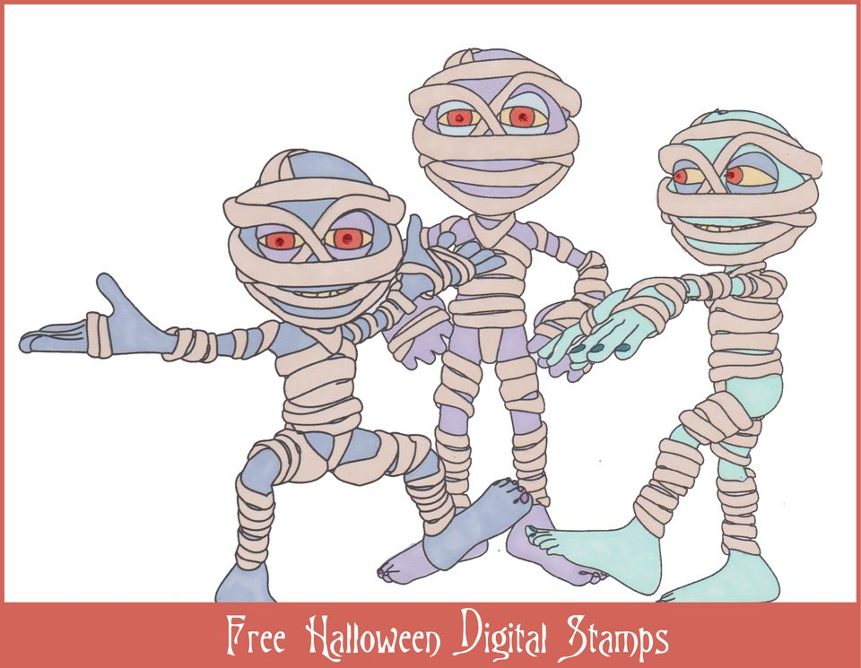 Free Halloween Themed Digital Stamps