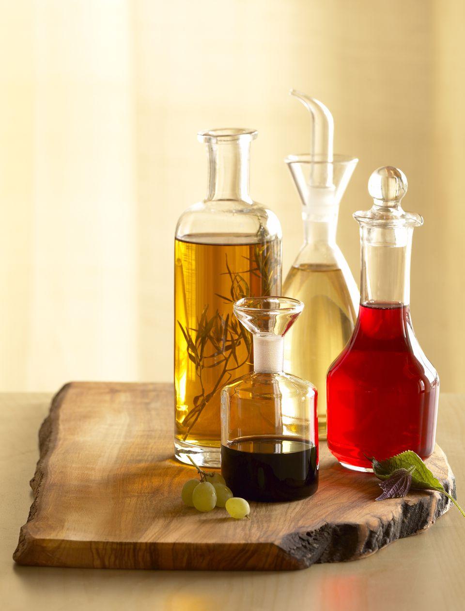 Assorted vinegars