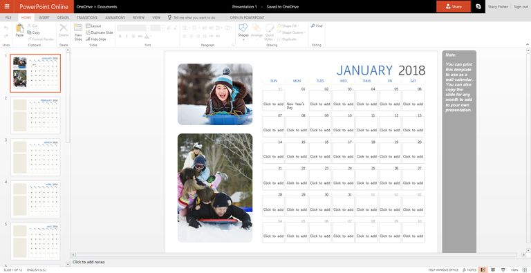89 free calendar templates for 2018 and beyond, Modern powerpoint