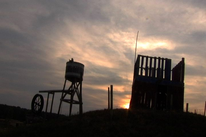 Cox Well at Sunset