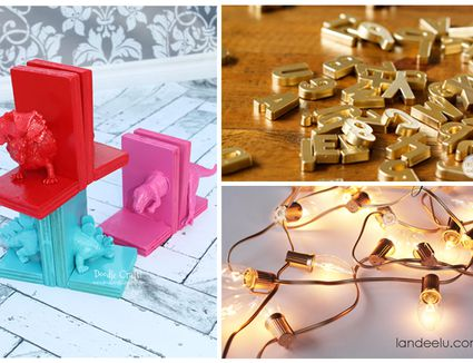 Easy Gold Spray Paint DIY Projects