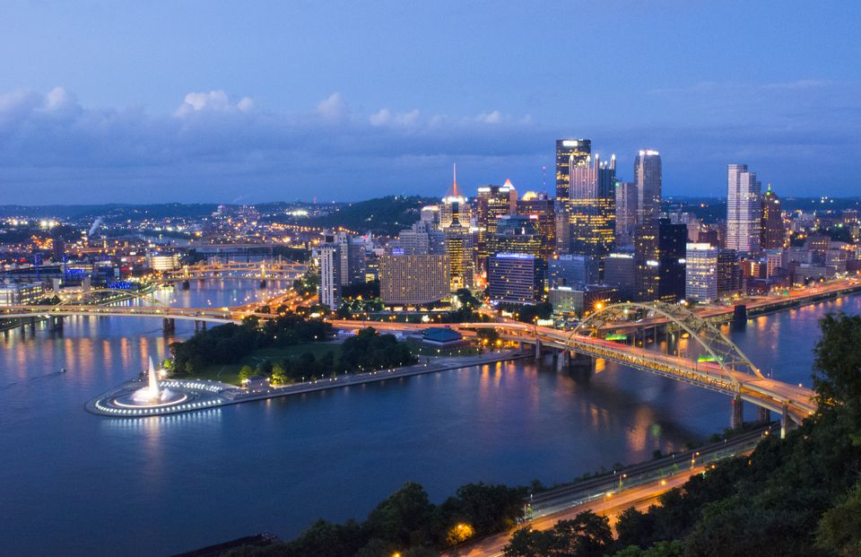 Pittsburgh Pennsylvania skyline from Mt. Washington