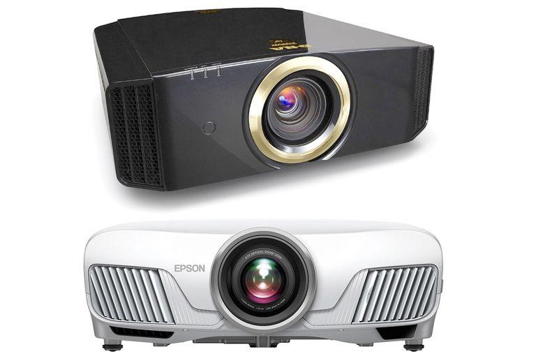 JVC DLA-RS520 e-Shift 4 (top) - Epson Home Cinema 5040 4Ke (bottom) Projectors