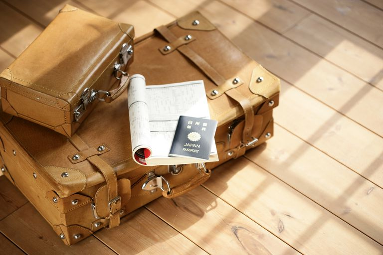 Suitcase and Passport