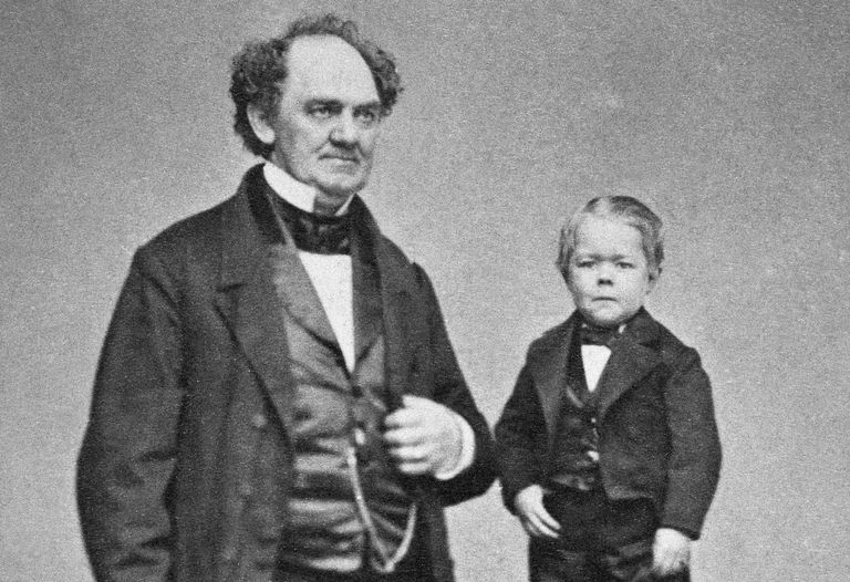 General tom thumb pt barnums greatest attraction photograph of pt barnum and general tom thumb stopboris Choice Image