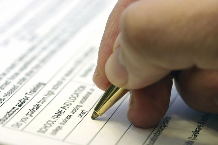 hand pen job application
