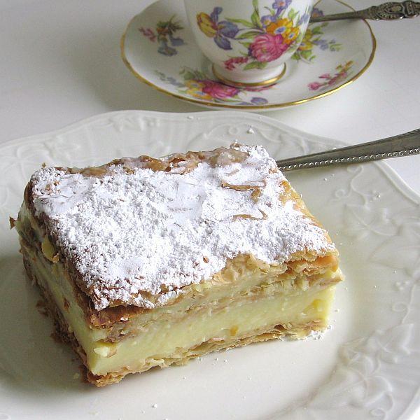 Polish Papal Cream Cake or Kremowka Papieska