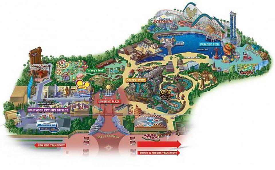 Maps Of Disneyland Resort In Anaheim California: Disney Los Angeles Map At Infoasik.co