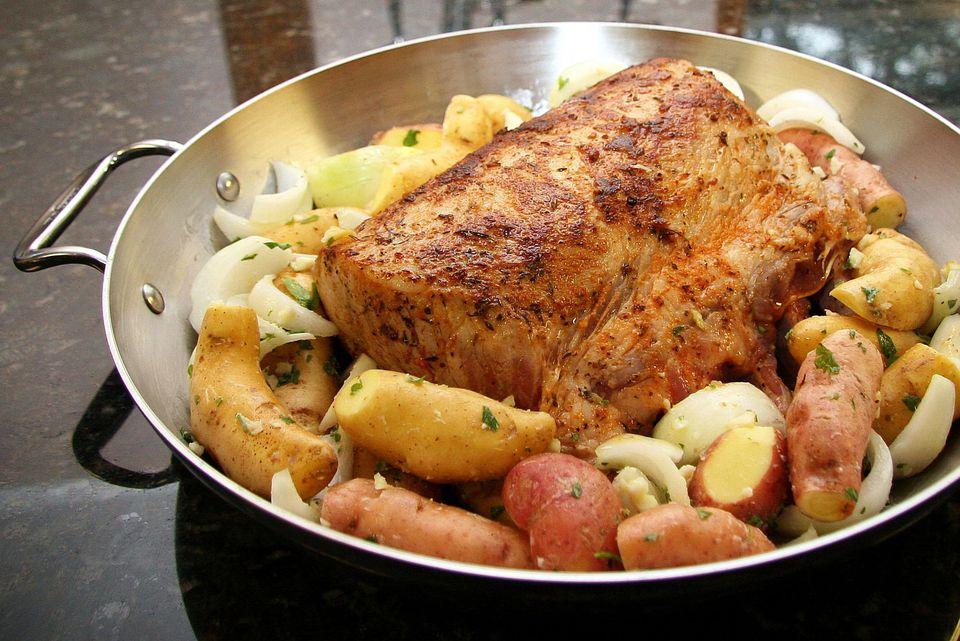 Pork Rib Roast With Fingerling Potatoes