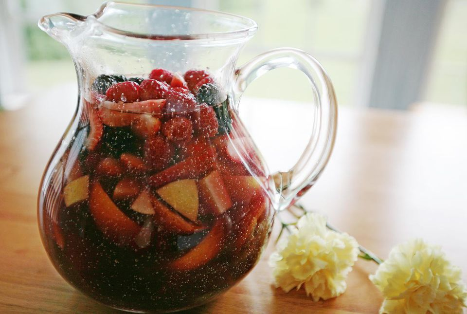 Sangria in pitcher