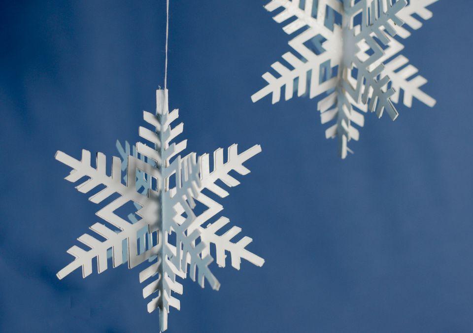 3D paper snowflake ornament