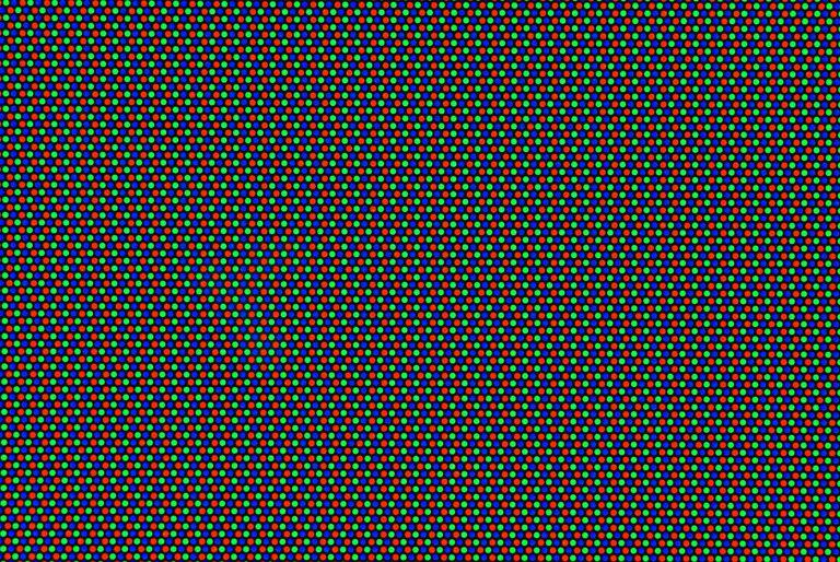 Macro view of CRT computer screen
