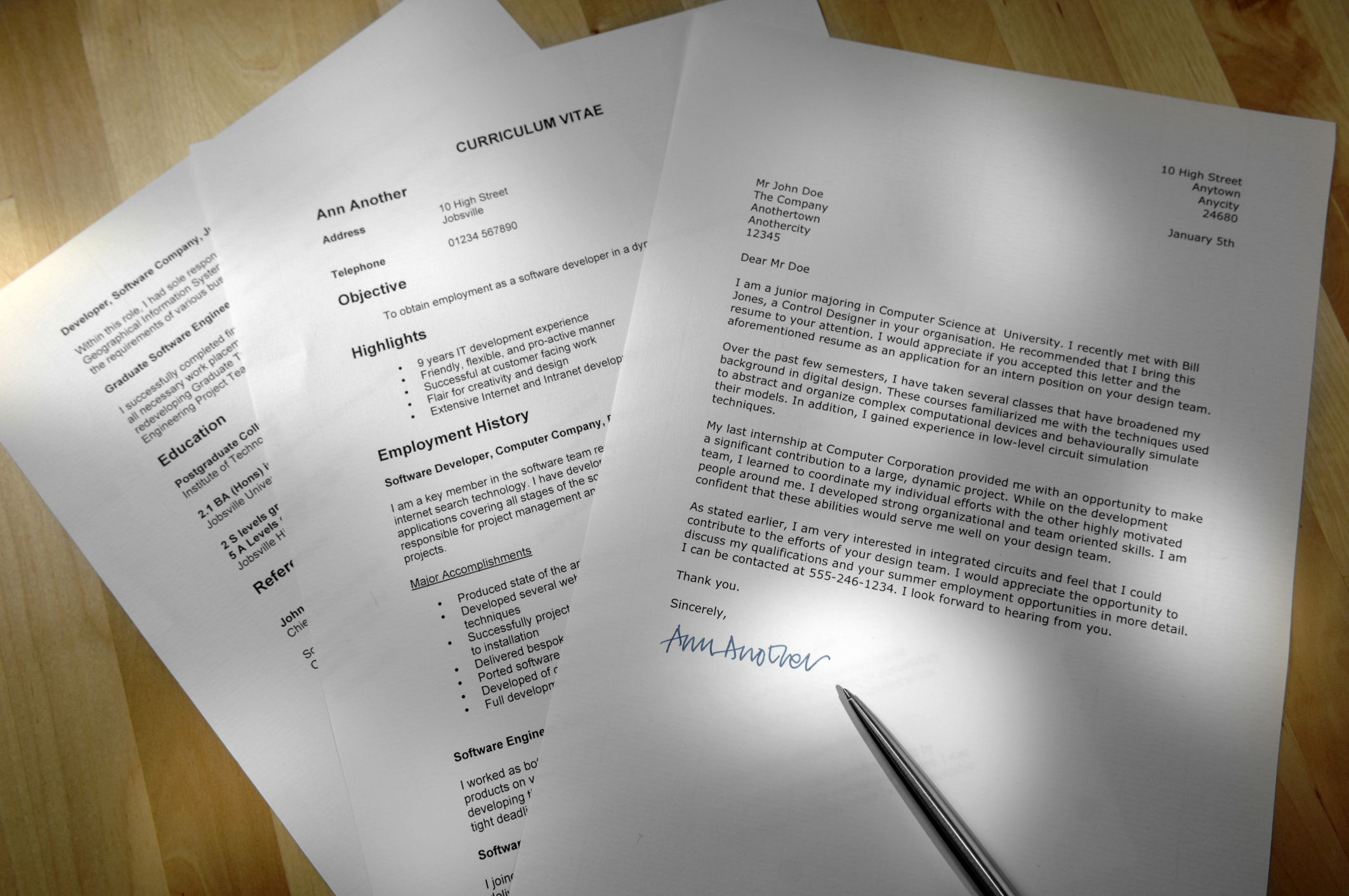 how to write covering letter for cv