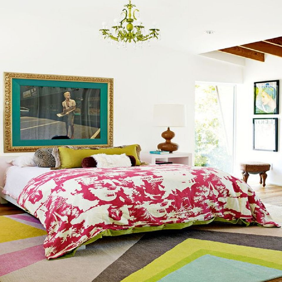 eclectic bedroom furniture. lots of patterns give an eclectic bedroom style furniture y