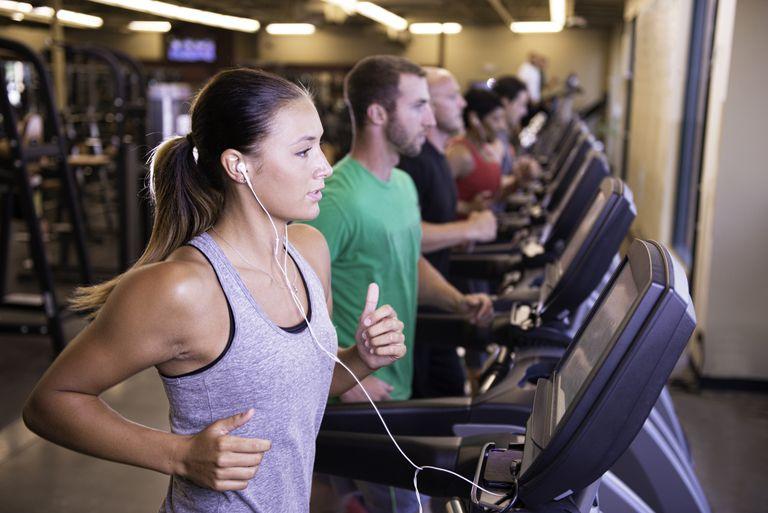 Treadmill Walkers in Gym